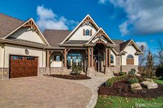 Beautiful craftsman-style home built by Suncrest Homes in the Pittsburgh area. Timber Posts, Home Design Floor Plans, New Home Construction, Home Trends, Craftsman Style, Inspired Homes, Design Projects, Building A House, New Homes