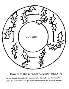advent coloring pages crafts - photo#25