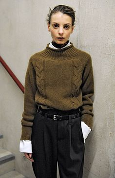 What a perfect sweater. Margaret Howell Women's Autumn Winter 2015 Backstage