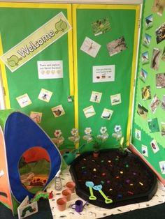 Garden role play area at school Kindergarten Science, Science Activities, Educational Activities, Activities For Kids, Dramatic Play Area, Dramatic Play Centers, Minibeasts Eyfs, Preschool Garden, Play Corner