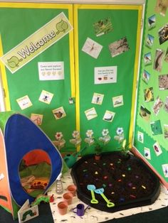 Garden role play area at school