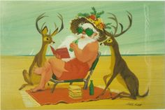 I am in LOVE with Ralph Hulett Christmas cards from the 1950s. I think it's because they remind me of classic Disney Movies from the same era.