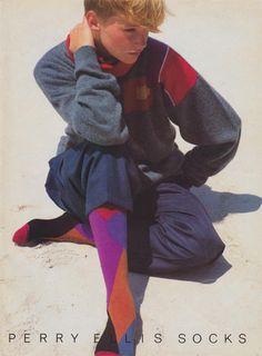 Perry Ellis 1984 #tbt #socks