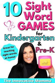 Looking for some fun sight word activities for kindergarten or preschool children? In this video, I'm sharing 10 sight word activities that will help teach your kindergarten or preschool child sight words at home! These sight word games are fun, engaging and low-prep! These games and activities can also be used to practice letters or numbers as well as sight words! #sightwordactivities #sightwordgames #kindergartensightwords