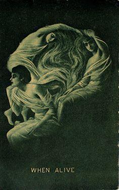 Antique Skull Optical Illusion Postcard No postmark - Circa 1910s.