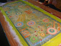 pam's painted floorcloths | Matching Floorcloths Process