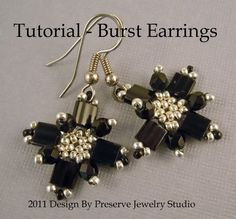 Tila Bead Tutorial, Easy Earring Tutorial, Seed Bead Tutorial, Earring Tutorial