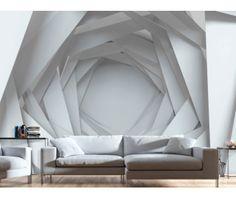 Papier peint White Mystery - décoration murale originale bimago. Papiers peints 3D c'est la collection où vous trouverez de nombreux motifs en vogue.