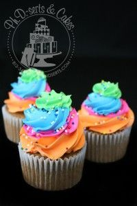 Rainbow cupcakes for an Oh The Places You'll Go party!