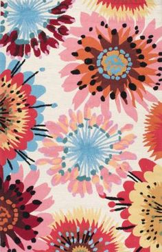 Rugs USA Floral Watercolors Area Rug