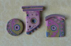 More Polymer Clay Tiles