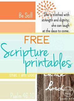 This would be great to print & have in different places of the house! Free Scripture Printables from Beauty in the Mess!
