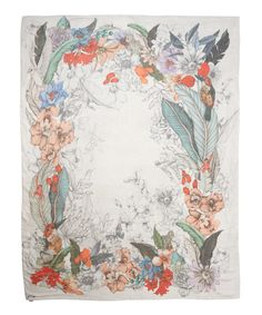 Faliero Sarti Multicolour Sidney Illustrated Silk-Blend Scarf | Accessories | Liberty.co.uk