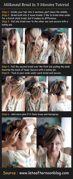 Milkmaid Braid In 5 Minutes Tutorial  I used to live in this hairstyle...haha