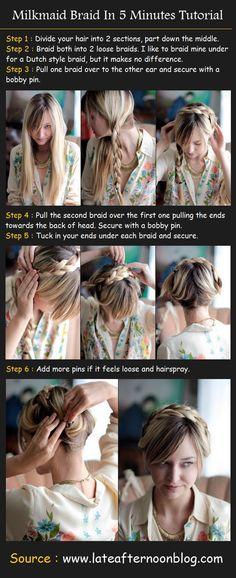 Milkmaid Braid In 5 Minutes | Beauty Tutorials