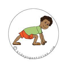 Lunge Pose on Kids Yoga Stories