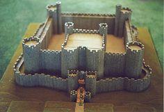 Castle Building Made Fun! Vila Medieval, Chateau Medieval, Medieval Castle, Cardboard Box Crafts, Cardboard Castle, Castles Topic, Castle School, Model Castle, Castle Crafts