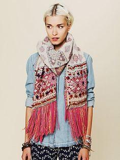 leather fringe scarf