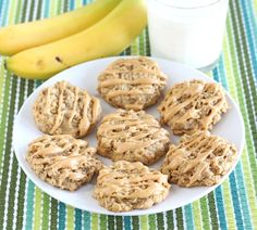 Peanut Butter Banana Honey Cookies Recipe on twopeasandtheirpod.com Love these cookies! #cookies