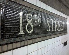 NYC subway tile