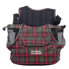 Outward Hound Pet A Roo Pet Carrier Front Style Plaid: Medium Pets up to 20 lbs 8 5 quot L x 13 quot W x 13 quot H Outward Hound