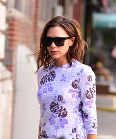 Victoria Beckham Victoria Beckham ditched her longer hair last year in favour of this wonderfully textured bob. The choppy, angular look suits her jaw line and the playful messiness of it is very in keeping with this season's vibe, plus it pairs well with the primness of her fashion designs.