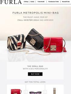 Furla Metropolis Mini-Bag: The MUST-HAVE item of Fall-Winter 2014 has arrived! - Furla
