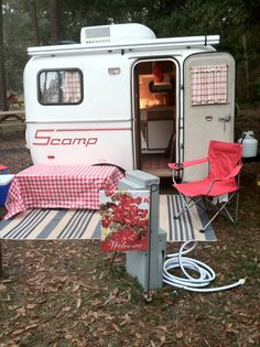 http://www.rvroadtripideas.com/campingnecessities.php has some info on what items to pack away when going on a camping trip.