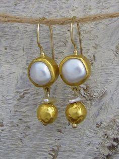 Gold & Pearl earrings