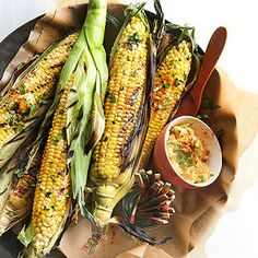 Grilled Corn with Smoky Lime Butter From Better Homes and Gardens, ideas and improvement projects for your home and garden plus recipes and entertaining ideas.