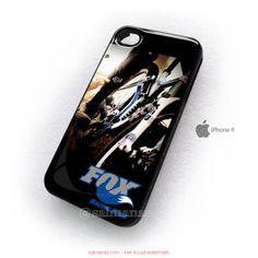 Fox Racing Shox Bike Bikers Bicycle iPhone 4,4s Case