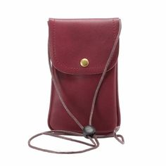 Universal Crossbody Cell Phone Bag WaitingU PU Leather Carrying Case Credit Card Holder Adjustable Shoulder Pouch Bag for iPhone Plus Samsung Galaxy Note Series Phones Under -Wine Iphone 7 Plus, Iphone 5s, Iphone Cases, Cell Phone Pouch, Phone Wallet, Smartphone, Leather Handbags, Leather Wallet, Pu Leather