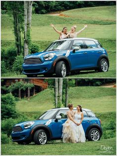 Columbia SC Wedding Photographer Nantahala Village Wedding Mini Cooper