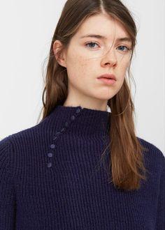 Decorative button sweater -  Woman | MANGO United Kingdom