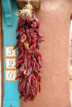 hang dried chiles (awesome!)