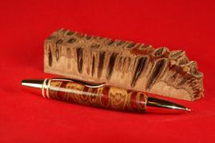 Turning a Banksia Pen With Dyed Epoxy #10