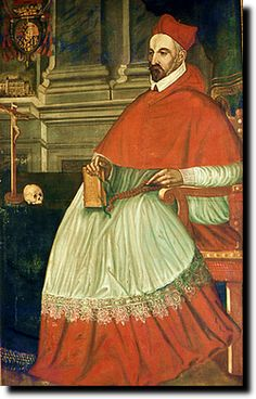 Charles de Guise ( cardinal ) musée de Joinville.- Dans un 1° temps ouvert à la discussion et à la réforme de l'église, il soutint la politique du chancelier Michel de l'Hôpital tout en s'illustrant comme le champion de la cause catholique. Avec son frère le duc de Guise, il dirigea la France sous le régne de François II (1559-1560), il participa au colloque de Poissy (1560) puis au Concile de Trente (1563).