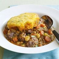 Slow Cooker Pork Posole and Corn Bread Stew