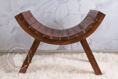 Newborn Wood Curved Posing Stool Bench Slatted by BeansInaBucket, $95.00