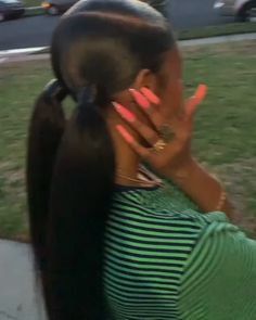 Two Ponytail Hairstyles, Hair Ponytail Styles, Slick Ponytail, Two Ponytails, Baddie Hairstyles, Black Women Hairstyles, School Hairstyles, Latina Hairstyles, Wedding Hairstyles
