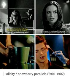 Olicity and Snowbarry parallels tumblr