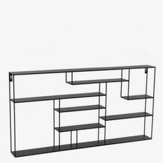 Hylle labyrint sort bred House Doctor, Interior Design Kitchen, Bookcase, Furniture Design, Sweet Home, New Homes, Shelves, Cabinet, Living Room