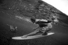 surfer and mermaid