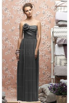 New Design Long Natural Zipper Strapless Bridesmaid Dresses - by OKDress UK