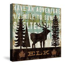 Simple Living Elk Canvas Wall Art – Laural Home