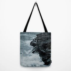 Buy Crashing Waves On Rocks Tote Bag by ARTbyJWP. Worldwide shipping available at Society6.com. Just one of millions of high quality products available.