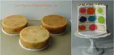 Once Upon A Pedestal: Surprise Inside Cake - Hidden Polka Dots Recipe and Tutorial.......Interesting concept.  B.