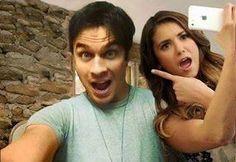 #TVD The Vampire Diaries Ian(Damon) & Nina(Elena)
