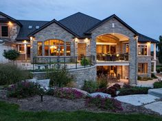 Heritage meets present day Hill Country Homes, Country House Plans, Dream House Plans, Landscaping Around House, Modern Landscaping, Big Houses Exterior, Dream Mansion, Dream Homes, Building Systems