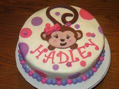 monkey birthday cakes for girls | girl monkey
